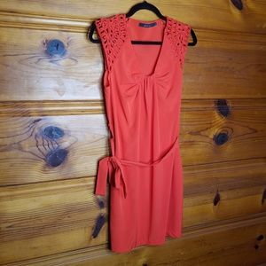 Ark & Co Coral Orange Sleeve Dress Size Small